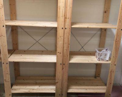 Free Ikea Wooden Shelving