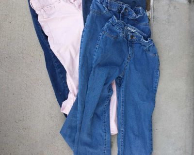 5 pair of size 14 girls jeans