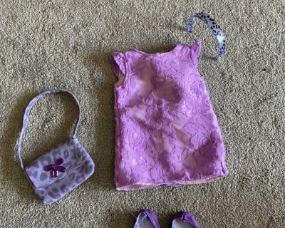 Purple outfit for 18 doll