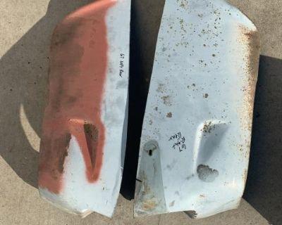 Rear fender lower bottom mudflap repair sections