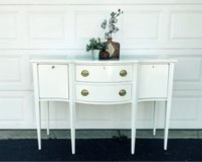 White painted buffet