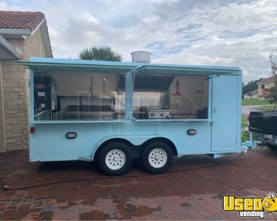 Very Clean 2018 - 6' x 18' Used Mobile Kitchen Food Concession Trailer