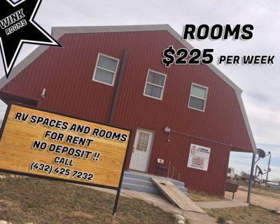 NO DEPOSIT!!! NICE ROOMS FOR RENT (WINK TX)