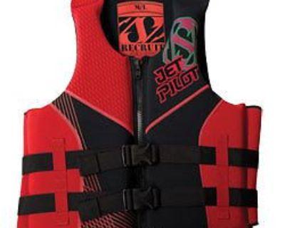 Yamaha Jetpilot 2015 Mens Neoprene Recruit Pfd Life Jacket Vest Red Med/lg