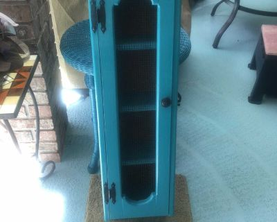 Super cute shabby chick wood Wall Cabinet 36.5 Tall .& 11 wide