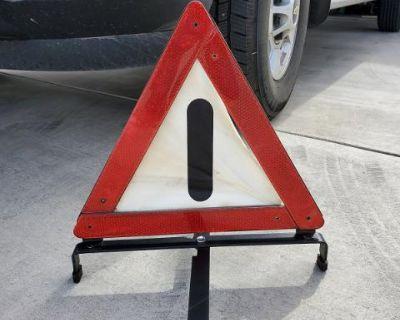 vintage swf hazard sign