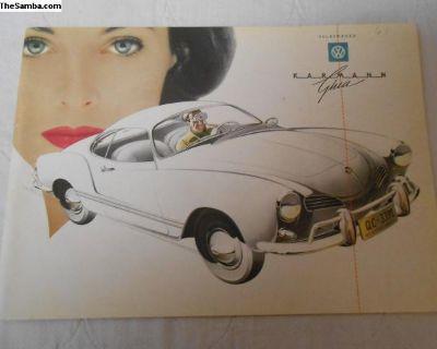 Original 1961 VW Karmann Ghia Auto Brochure