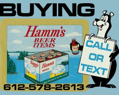 HAMM'S BEER signs,cans,taps WANTED