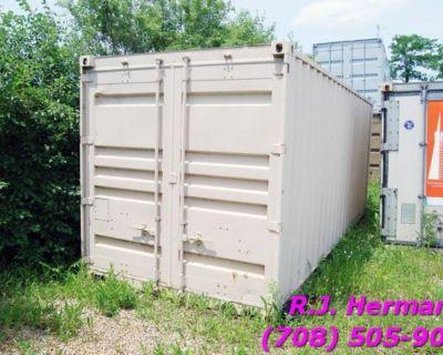 20 ft Storage Container With Overhead Door