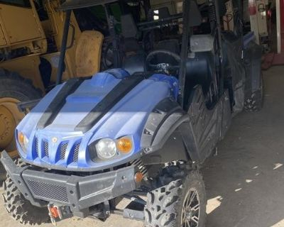 2016 cub cadet challenger 750 crew blue, it has 143 hrs and 1711 miles. Dump bed,