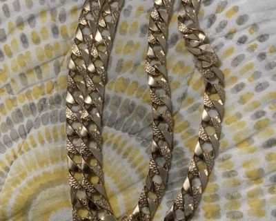 14k solid real gold chain