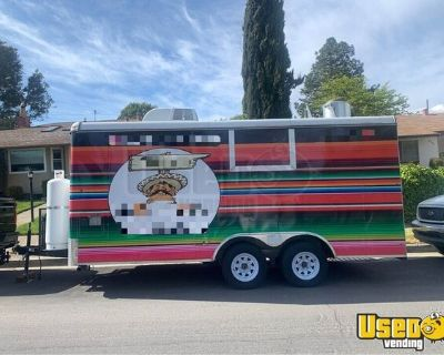 2017 - 16' Commercial Mobile Kitchen / Used Food Concession Trailer