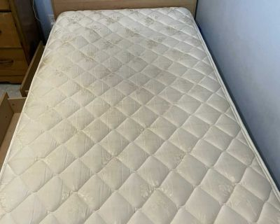 Twin captain bed , frame and mattress