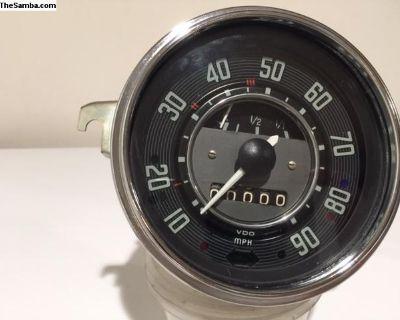 1968 Bug speedo restored speedoometer