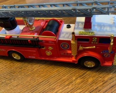 Vintage Mobile New Bright Fire Truck