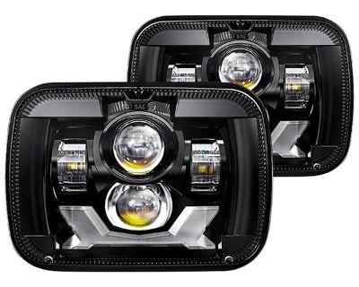 "New Lumen Summer Release - 7x6"" Rectangular Projector LED Headlights"