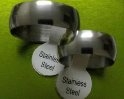 BRAND NEW STAINLESS STEEL WEDDING BANDS.