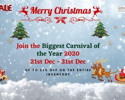 Gemexi Biggest Christmas Carnival Sale - 21 TO 31 Dec 2020