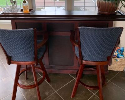 Bar with two chairs