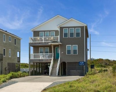 Pelican View: Semi-oceanfront-views of the ocean, private pool and hot tub and an elevator. - Nags Head