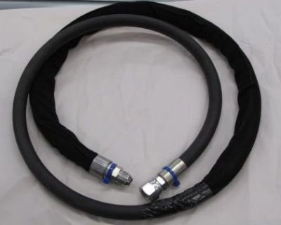 "Cnh Case 580m Backhoe Loader Hydraulic Hose Line 397787a1 6 Ft Long 3/4"" Thread"