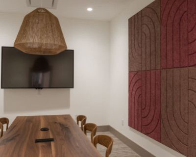 Stylish, Design-Driven Meeting Room in Culturally Based Workspace on the Armour-Ottley Loop, Atlanta, GA