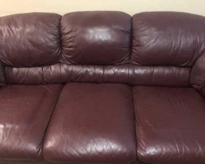 Great condition genuine leather sofa set for sale