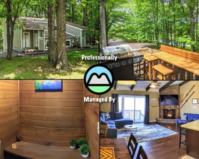 The Wooded Bliss w/ Private Sauna, Games, Deck - Lake Harmony