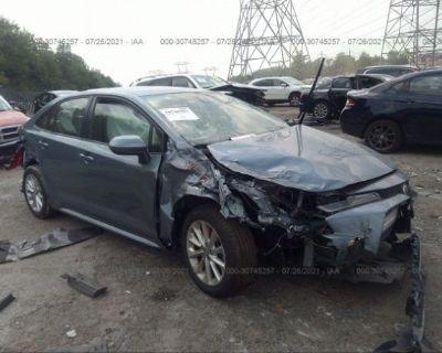 Salvage Gray 2021 Toyota Corolla