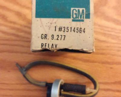 Nos 1967-68 Cadillac Air Conditioning Vacuum Time Delay Relay Gm Part # 3514564