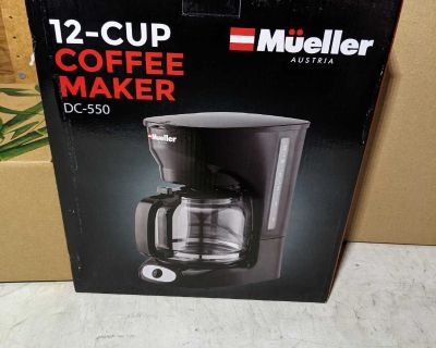 12-Cup Drip Coffee Maker - NEW