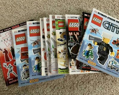 Free with purchase! Lego Sticker books