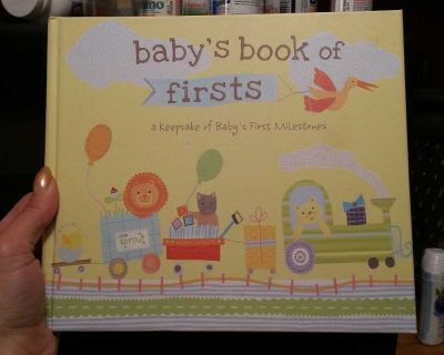 NEW BABY'S BOOK OF FIRSTS A KEEPSAKE OF FIRST MILESTONES 20 PAGES INCLUDING PHOTO SLOTS SEE 4 PHOTOS IN COMMENTS