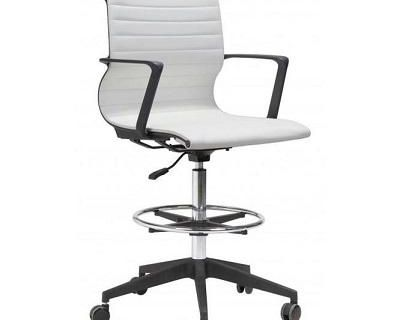 Buy Zuo Stacy Drafter Office Chair White | Office Chairs | Graysonliving.com