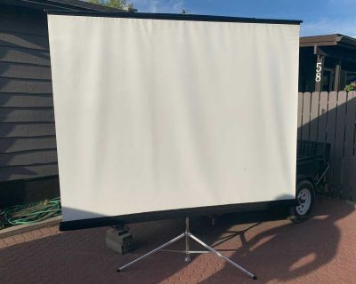 120 inch projector screen with stand