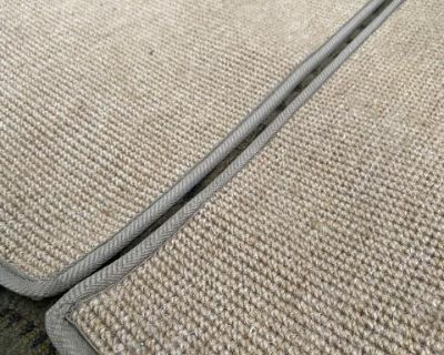 Squareweave oatmeal carpet 4pc floor mats ghia