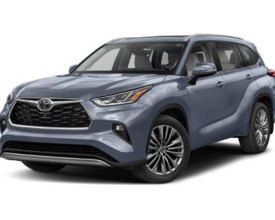New 2021 Toyota Highlander Platinum With Navigation & AWD