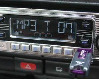 Classic Becker Style Am Fm Cd Usb Ipod Mp3 Stereo Radio Din Size 2x7 Inch Dash