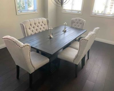 DINNING CHAIRS AND A BENCH/ SET