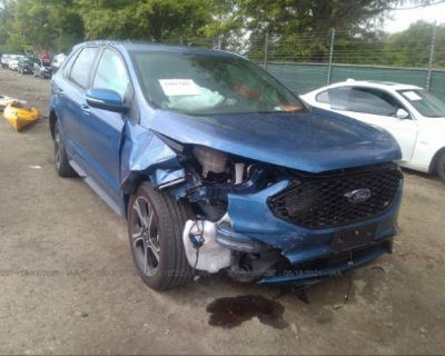 Salvage Blue 2020 Ford Edge