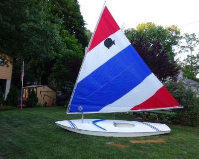 14' Sunfish Sailboat Ny Sun Fish Sail Boat Excellent Condition