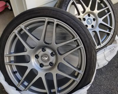 [FS] 18x9.5 +44mm Forgestar F14 Wheels with Federal RSRR tires(Mass Pickup)
