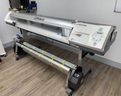Roland VersaCamm VP-540i and Seal 54 BASE laminator