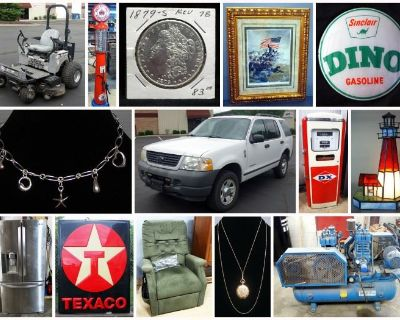 Petroliana, Coins, Jewelry, Furniture, And More