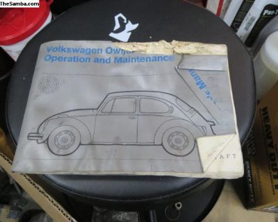 1972 Owners Manual