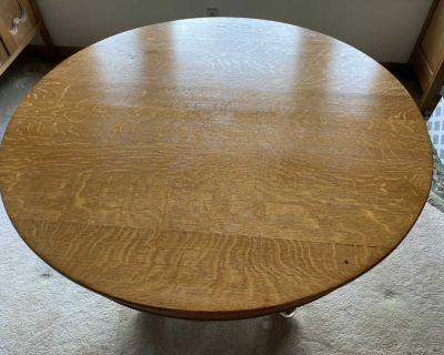 Antique round oak table