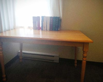 Work/ Reading Table with detachable legs.