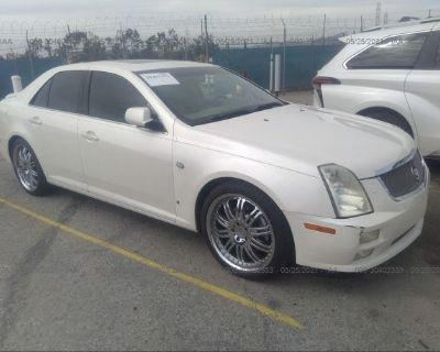 Salvage White 2006 Cadillac Sts