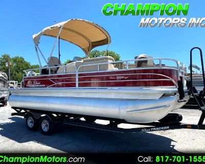 Used 2019 Sun Tracker Fishing Barge 20 DLX Pontoon Boat Fishing Edition