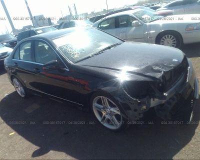 Salvage Black 2011 Mercedes-benz C-class